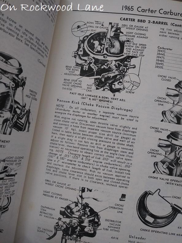 1965 Carter Carburetor diagram