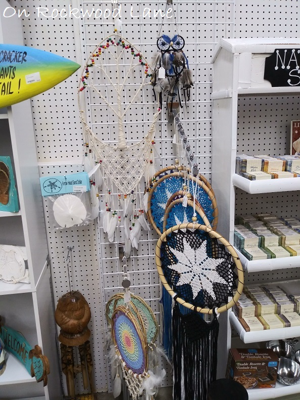 macrame tree of life wall hanging, owl dreamcatcher, and crocheted dreamcatchers