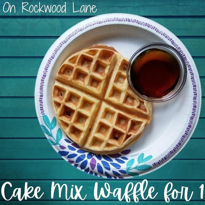 Cake Mix Waffle for 1 Recipe On Rockwood Lane