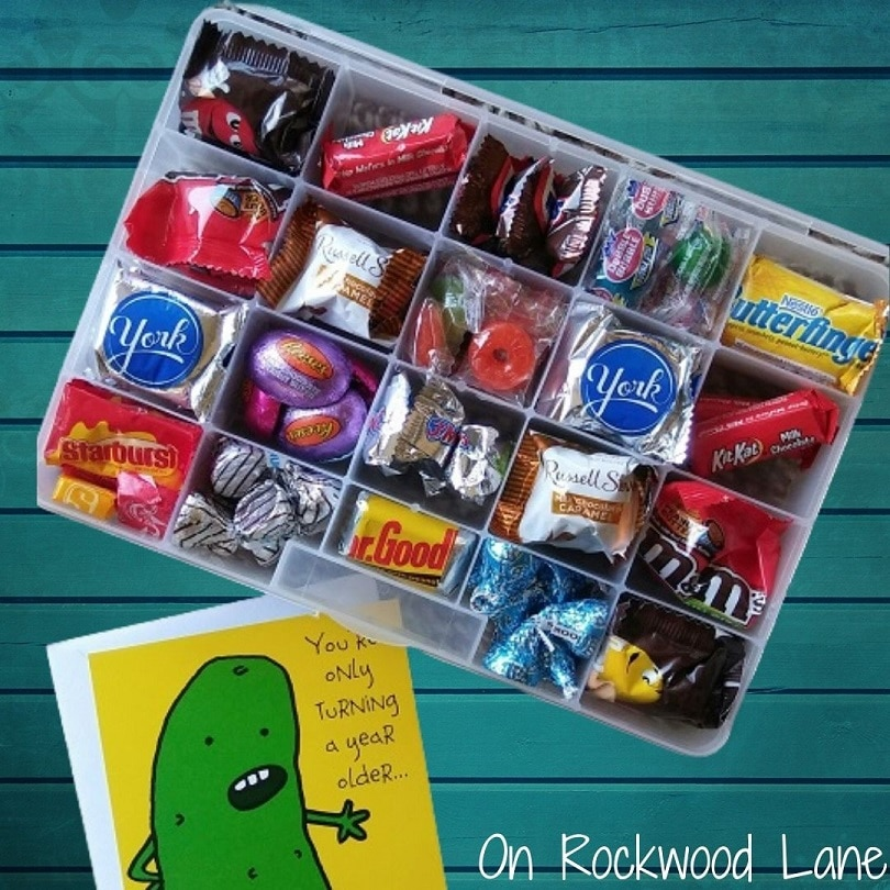 Candy Sampler Gift Box and a pickle birthday card, On Rockwood Lane