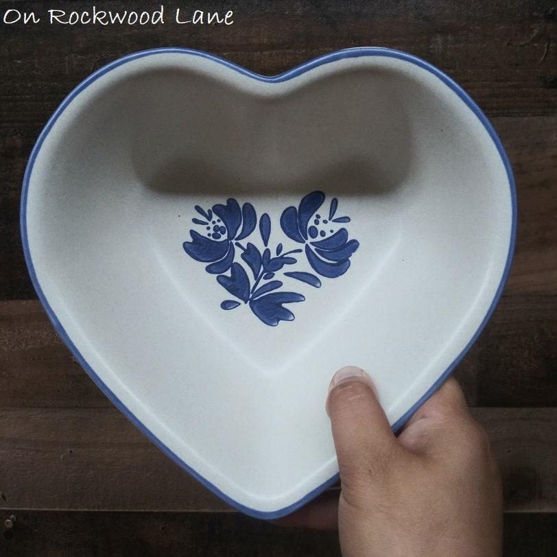 Vintage Pfaltzgraff Yorketowne Heart Serving Bowl, On Rockwood Lane