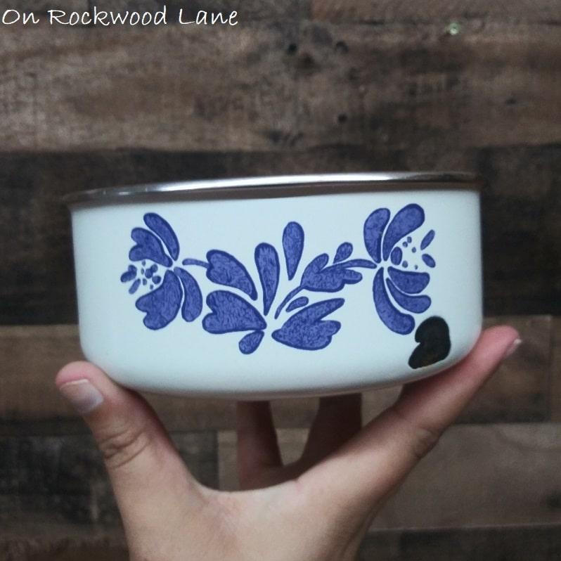 Vintage Pfaltzgraff Yorketowne Enamel Nesting Bowls, On Rockwood Lane