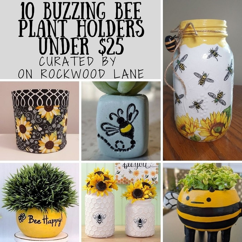 10 Buzzing Bee Plant Holders Under $25 Curated by On Rockwood Lane