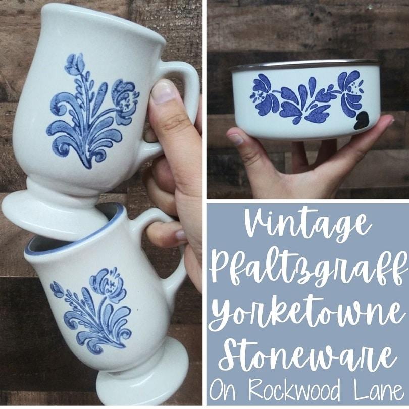 Vintage Pfaltzgraff Yorketowne Stoneware On Rockwood Lane