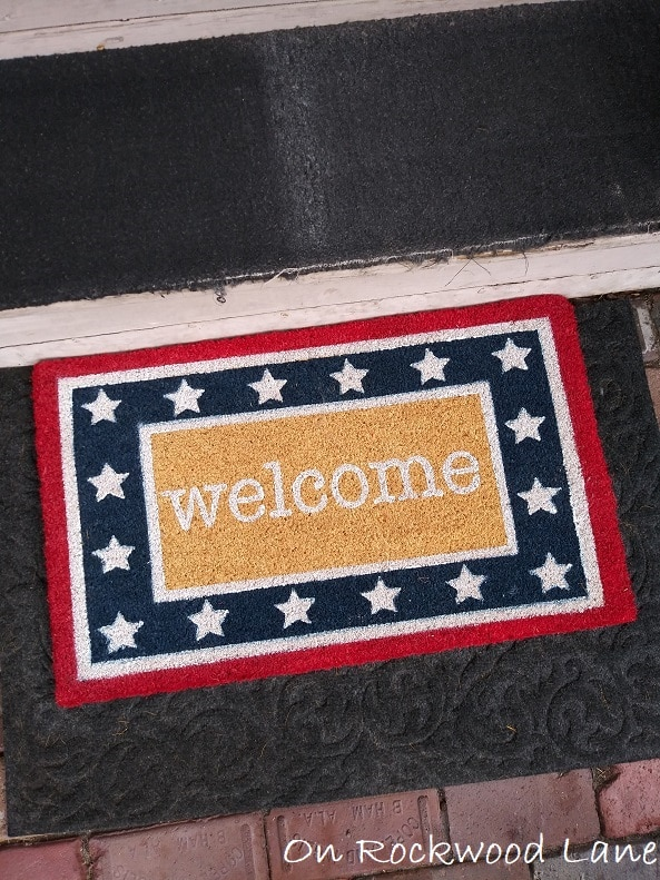 Patriotic welcome mat, On Rockwood Lane