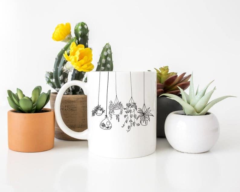 Hanging Plant Mug (aff link)