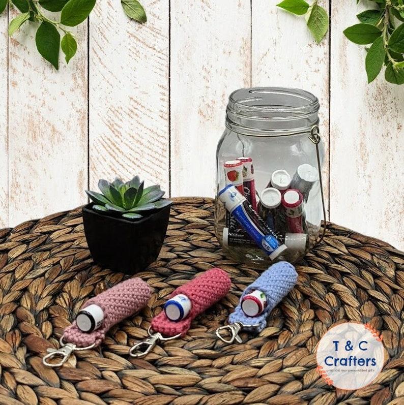 Crocheted Lip Balm Keychain (aff link)
